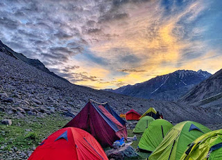 Camping during trek