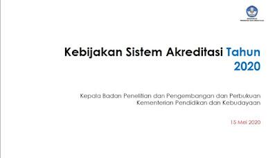 Kebijakan Sistem Akreditasi Tahun 2020