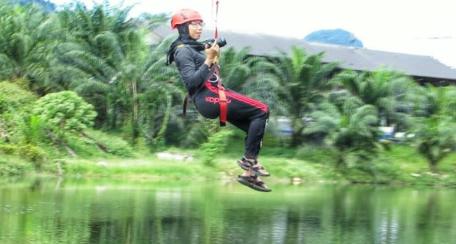 flying fox, menginap di malaysia