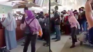 """Heboh! TKW Ngamuk di Bandara Soetta, """"Jokowi Suruh Turun ke Sini Lawan Saya!"""""""