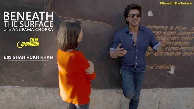 beneath the surface - anupama chopra with srk on film companion