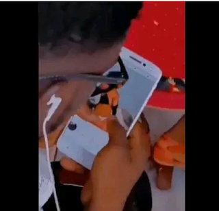 Video Of A Guy Watching N*ked Pictures During Church Service Goes Viral (Video below)