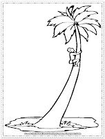 coconut tree coloring page printable