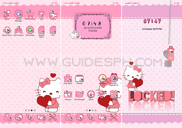 Oppo Theme: Cute Kitty Theme