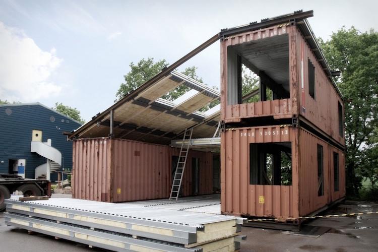 De contenedor de transporte a casa sostenible