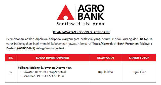 jobs agrobank june 2021