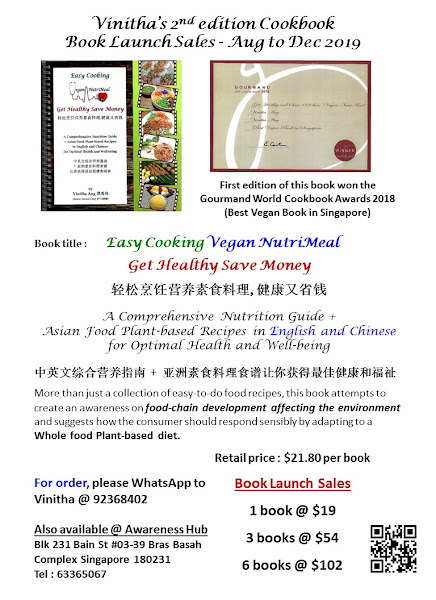 Asian food recipes cookbook with Nutrition guide 素食食谱与营养指南