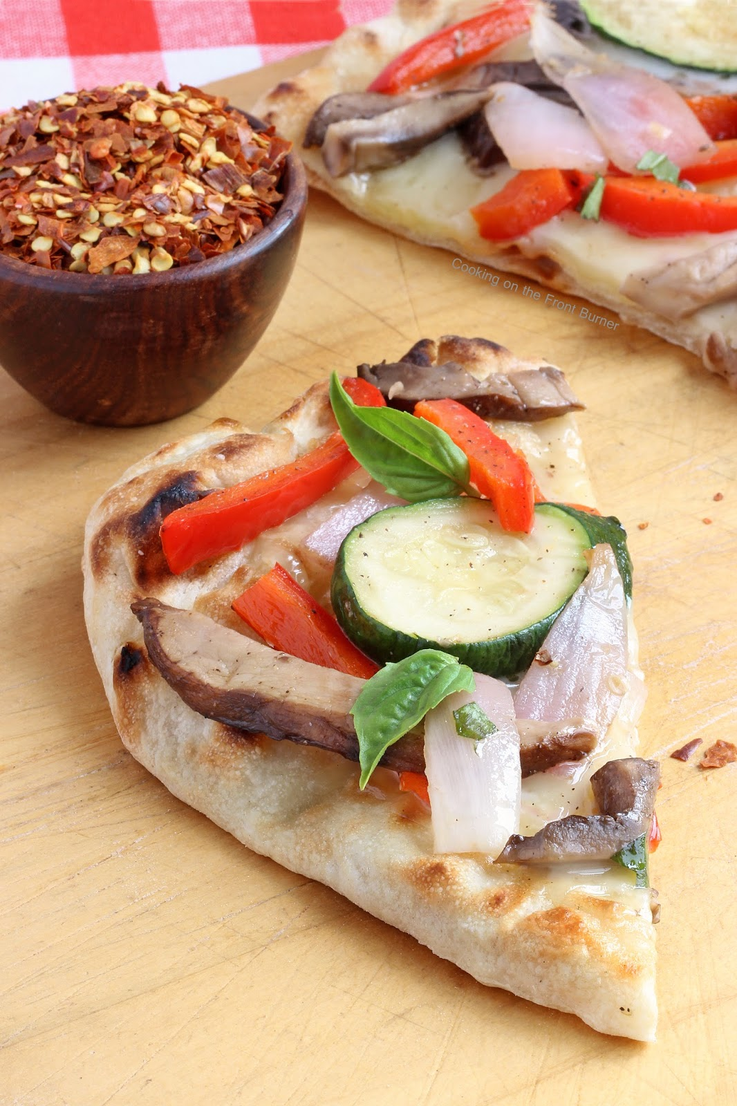 Rustic Grilled Veggie Flatbread | Cooking on the Front Burner #pizza