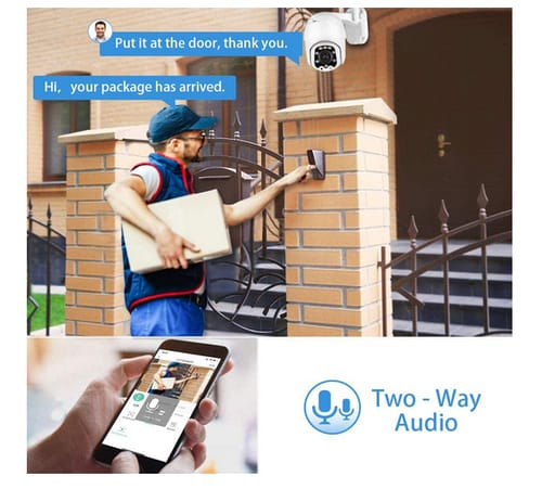 FURNIZONE Aottom 1080P WiFi PTZ IP Dome Security Camera