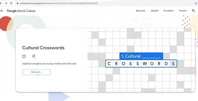 crosswords di Google Arts and Culture