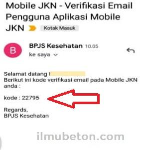 Contoh Kode verifikasi akun mobile JKN