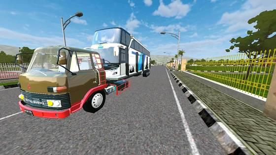 Mod Truck Fuso Old Muatan Bus UHD Long Chassis
