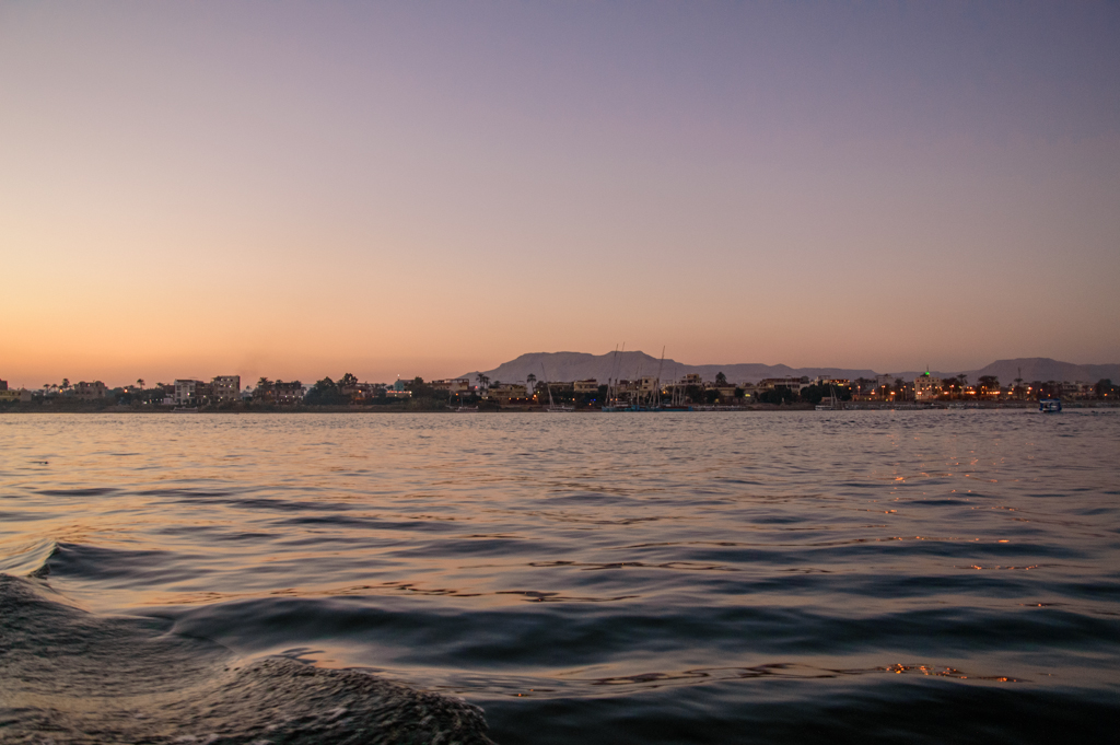 Берег Нила в сумерках