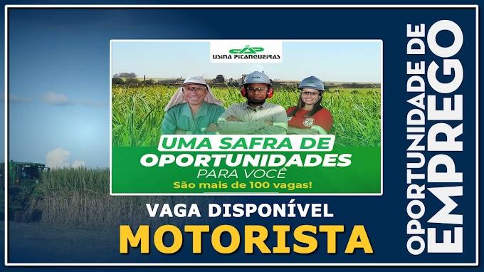 Usina Pitangueiras abre diversas vagas para Motorista