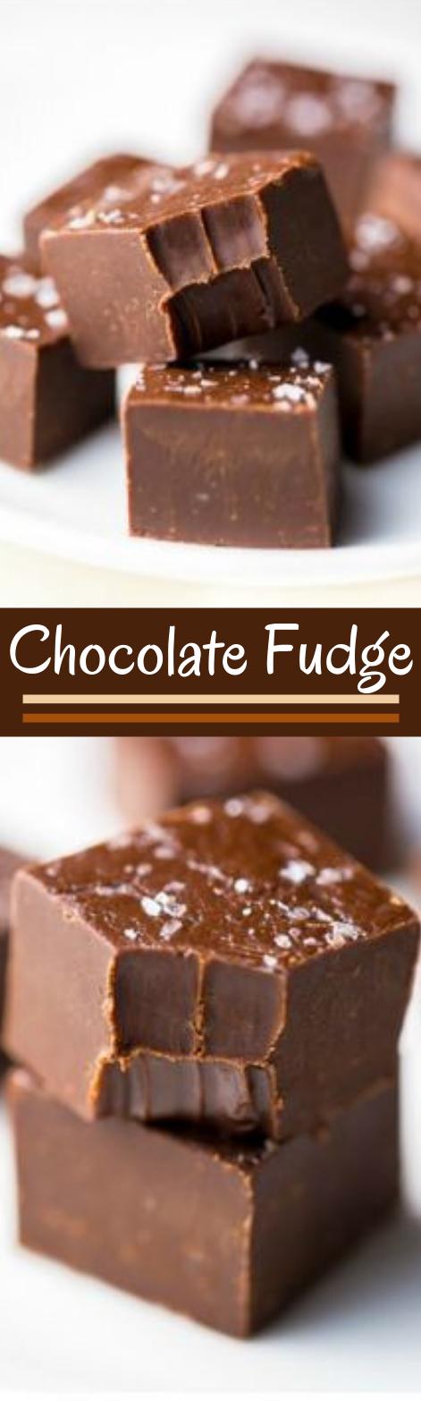 Foolproof Chocolate Fudge #desserts #chocolate