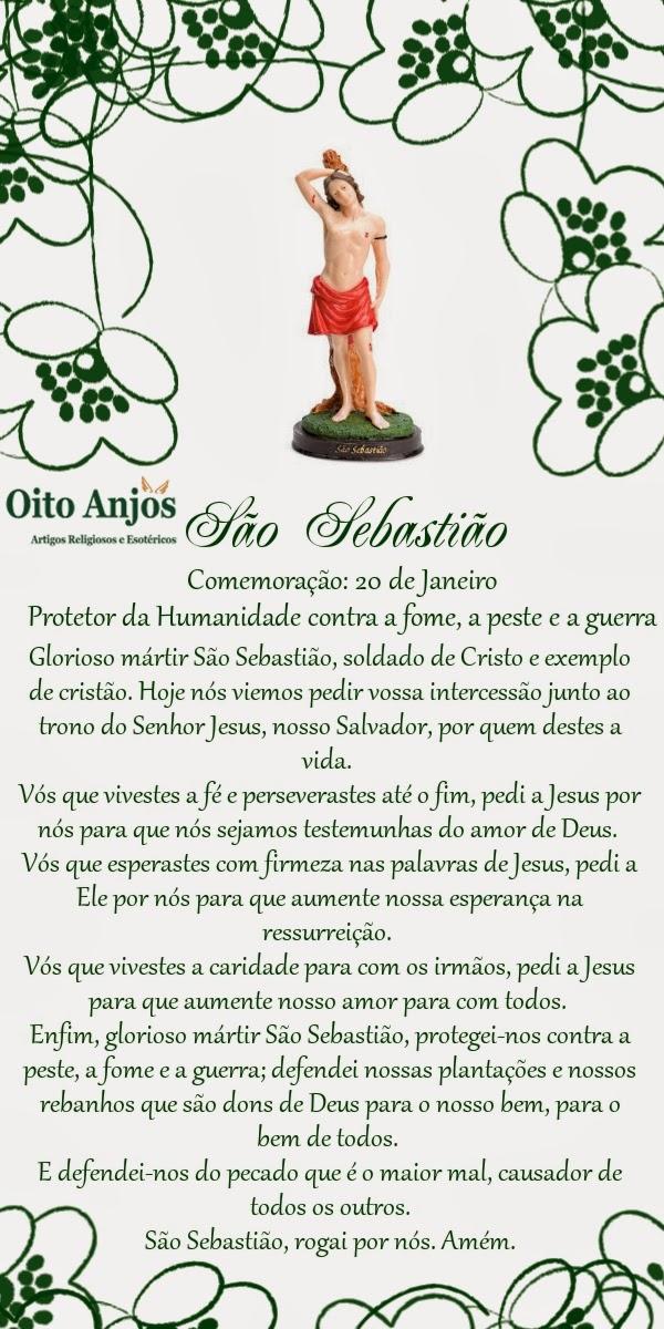 Dia de São Sebastião* Oito Anjos Artigos Religiosos e Loja Esotérica