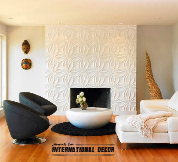 3d wall panels, molding in the modern interior