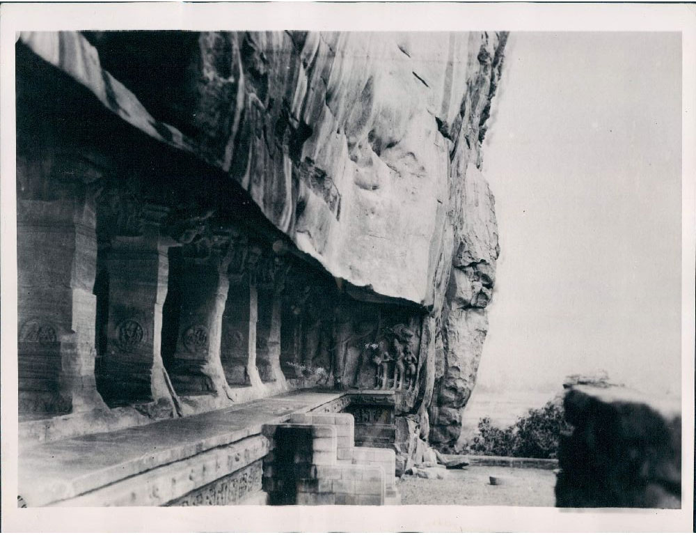 Rare Frescoes Found in Badami in the Bagalkot District in the north part of Karnataka, India - 1937