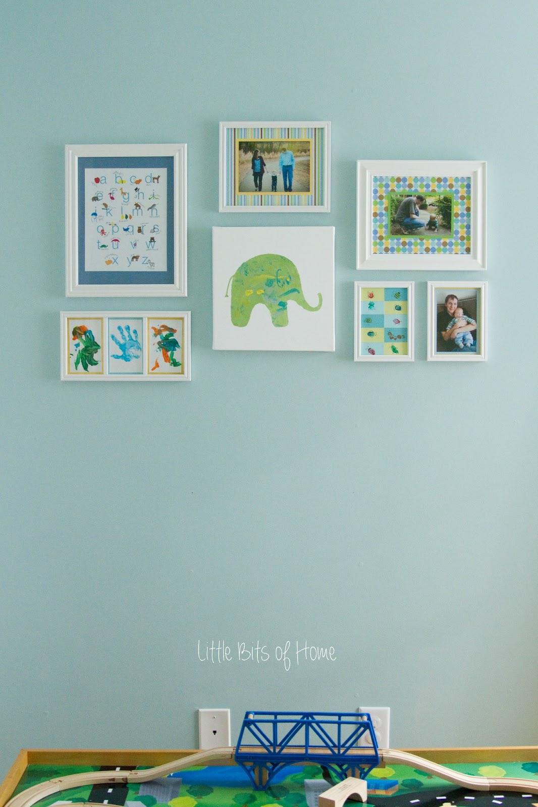 Kids Artwork Display #kids #playroom #kidspace #color #art