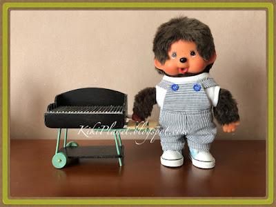 kiki monchhichi miniature barbecue doll poupée handmade fait main