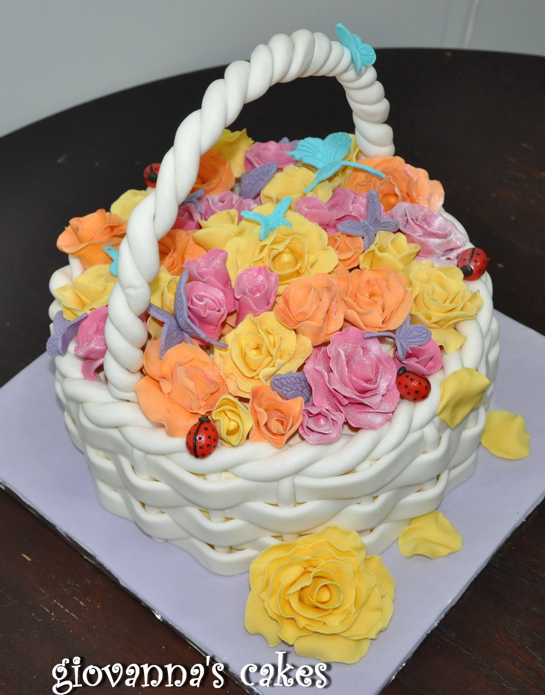 Flower Basket Cake Designs