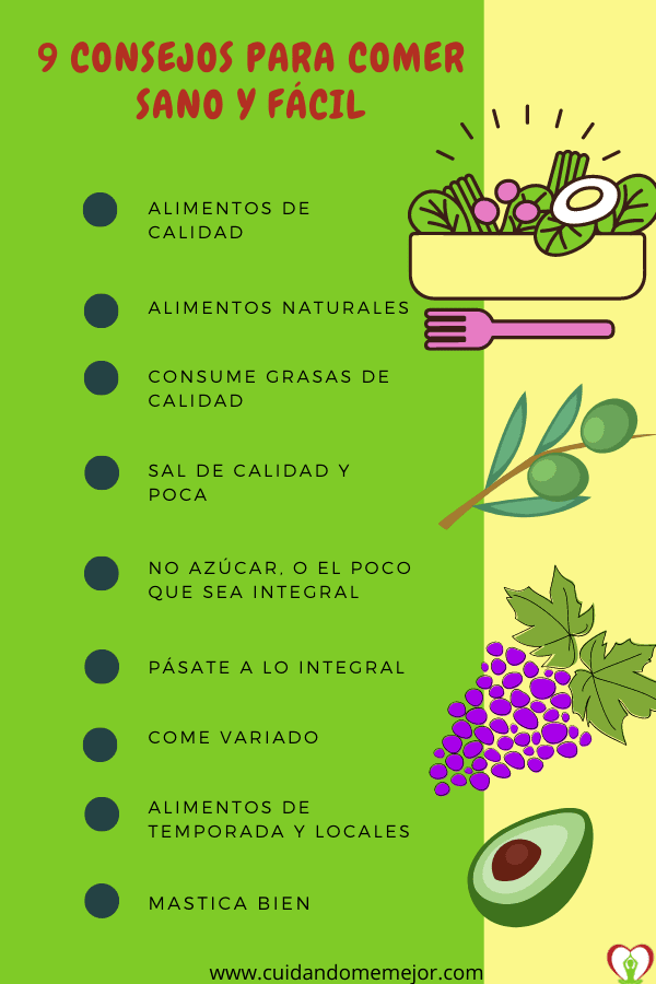 consejos para comer sano de manera facil
