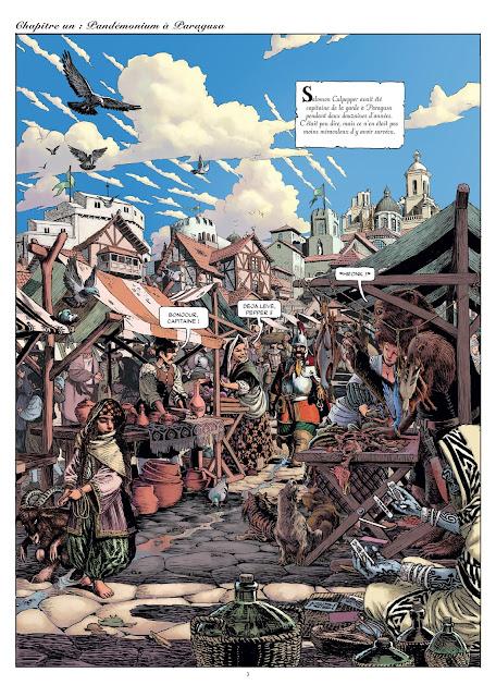"""page de """"Colt & Pepper T1 Pandemonium à Paragusa"""" de Kordey et Macan chez Delcourt"""