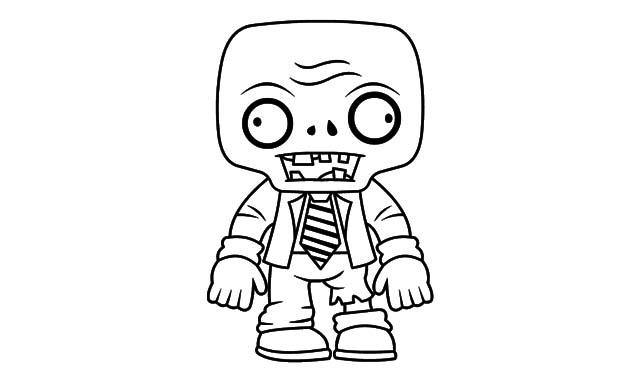 dibujo facil zombie imprimir