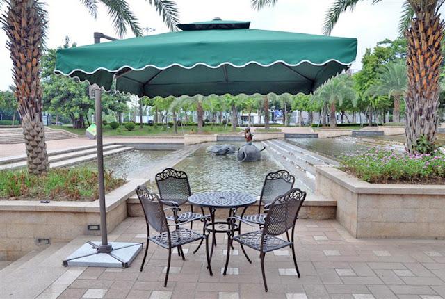 payung taman awning kain