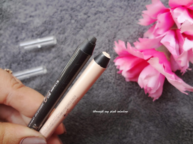 Review and Swatch of Maybelline Lasting Drama Waterproof Gel Pencil in Smooth Charcoal and Soft Nude