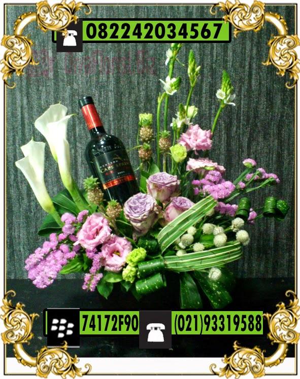 Jual rangkaian bunga anggrek meja