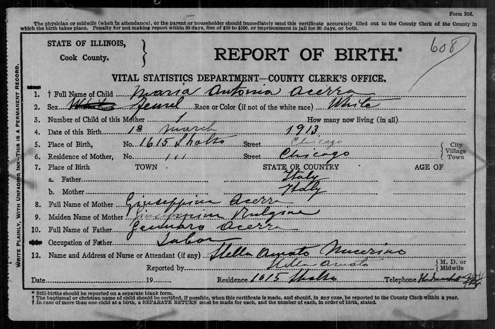 chicago birth records