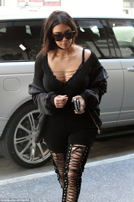 1a8 Photos: Kim Kardashian steps out in black