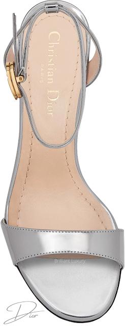 Silver Dior J'Adior Mind calfskin sandals #brilliantluxury