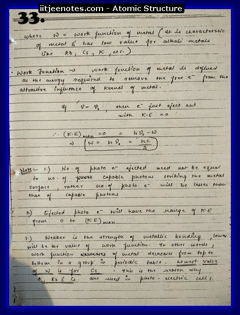 Atomic Structure Notes IITJEE1