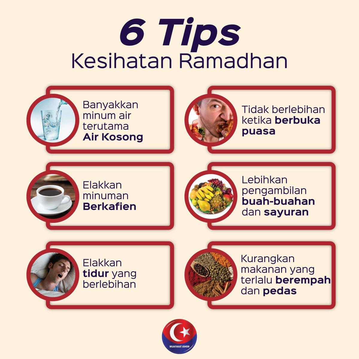 Tips kesihatan di bulan ramadhan