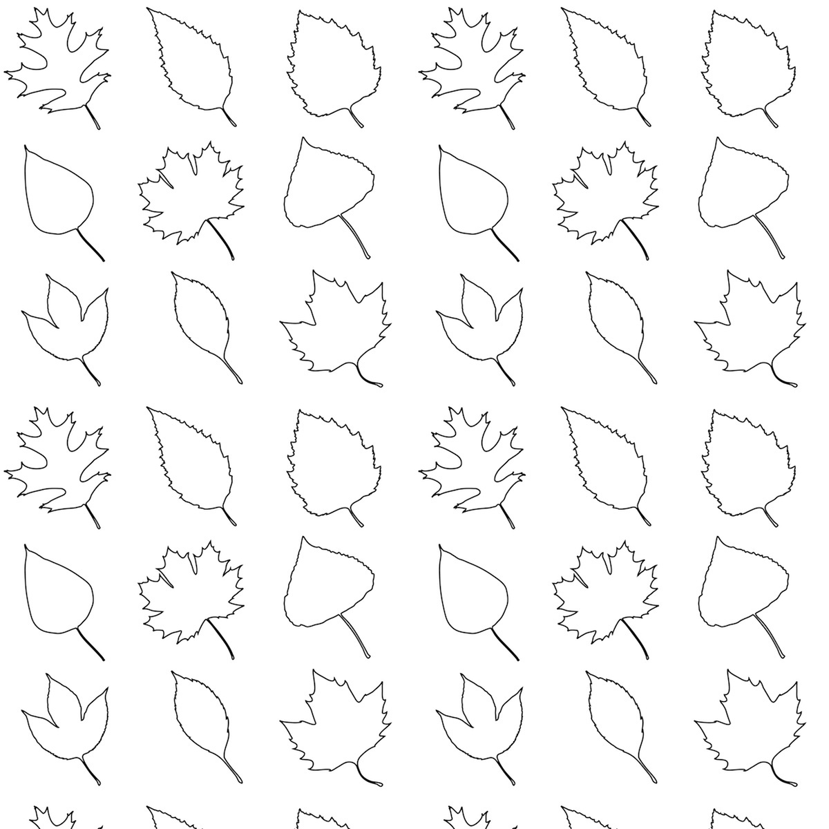 Free Printable Leaves Coloring Pattern Paper