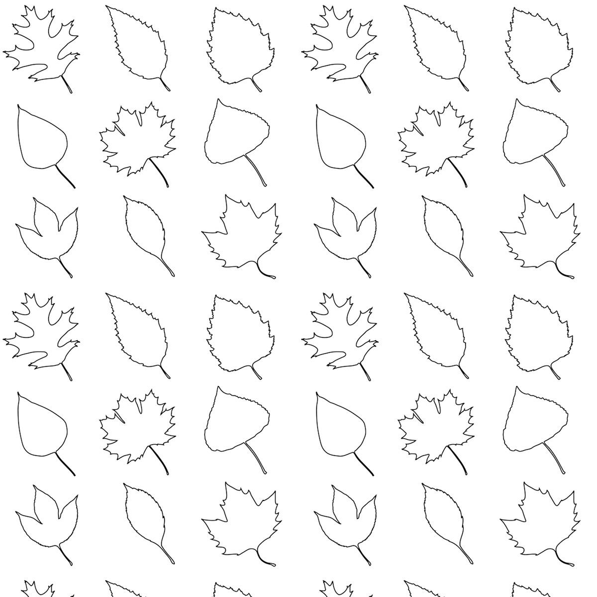 Free Printable Leaves Coloring Pattern Paper