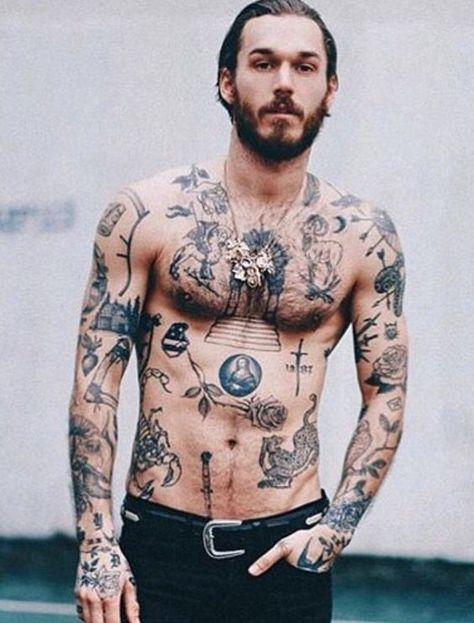 Macho Moda Blog De Moda Masculina Tatuagem No Peito 20