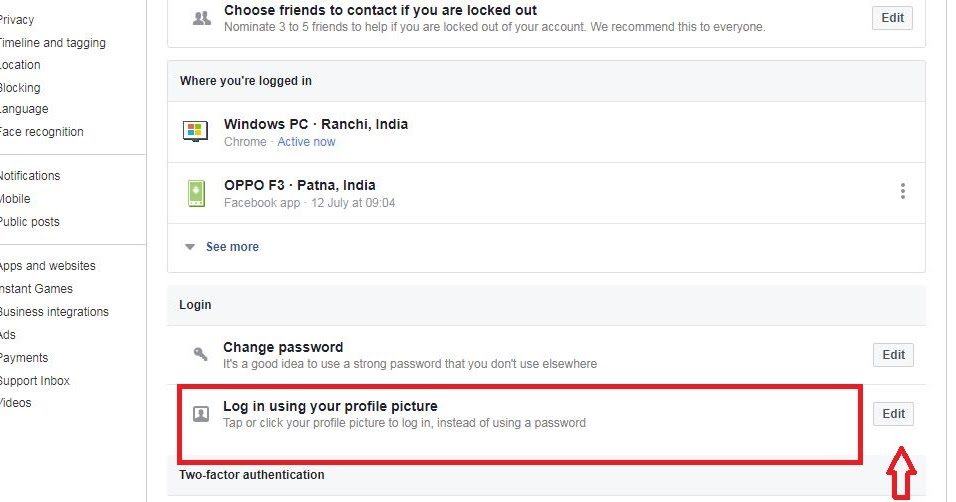 How to Enable / Disable Profile Picture Login on Facebook