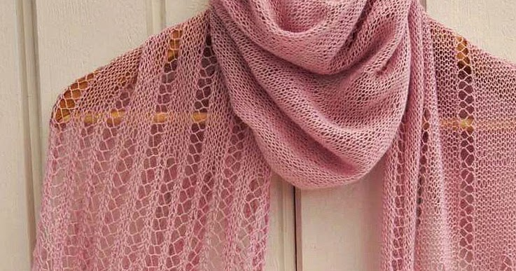 The Drizzle of Honey: Powder Pink Lace Shawl