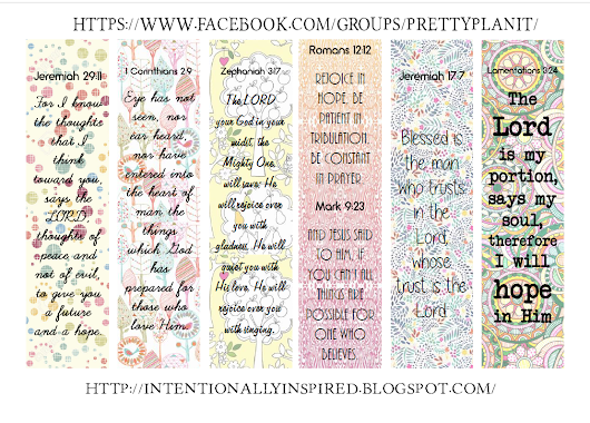 Free Pretty Happy Planner Scripture Sidebar Printable