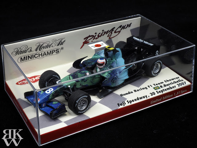 MINICHAMPS 1/43 Honda Racing F1 Team Showcar Fuji Speedway, 30 September 2007 R.Barrichello ホンダ F1 バリチェロ