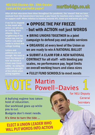 Martin's leaflet calling for national action on pay