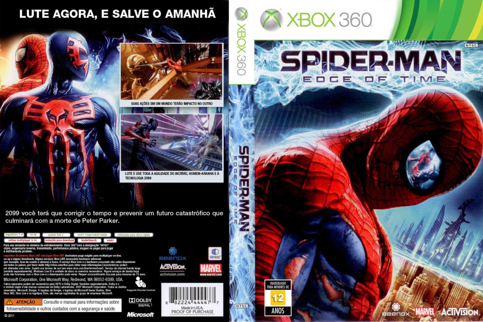 capas de filmes spiderman edge of time