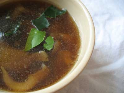 Hot and Sour Thai Mushroom Soup with Nam Prik Pow
