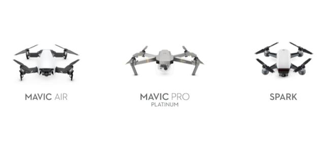 DJI Mavic Air / Mavic Pro / Spark 怎麼選