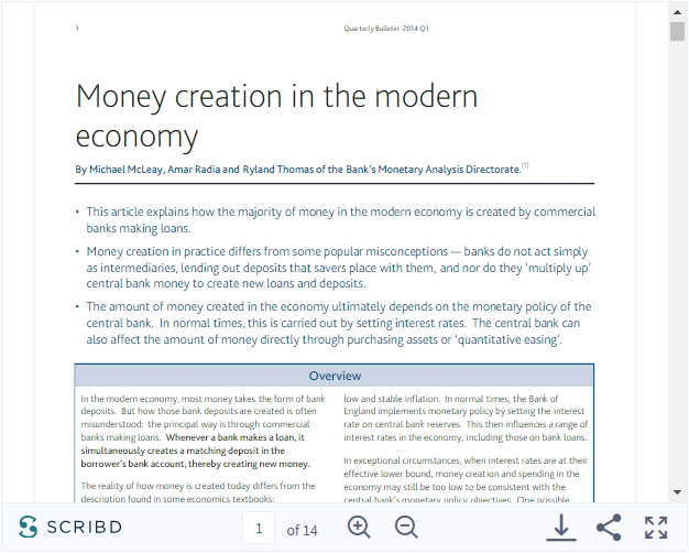 Money creation in the modern economy