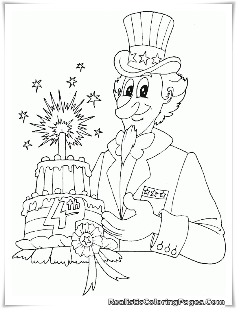 Free Printable 4th July Coloring