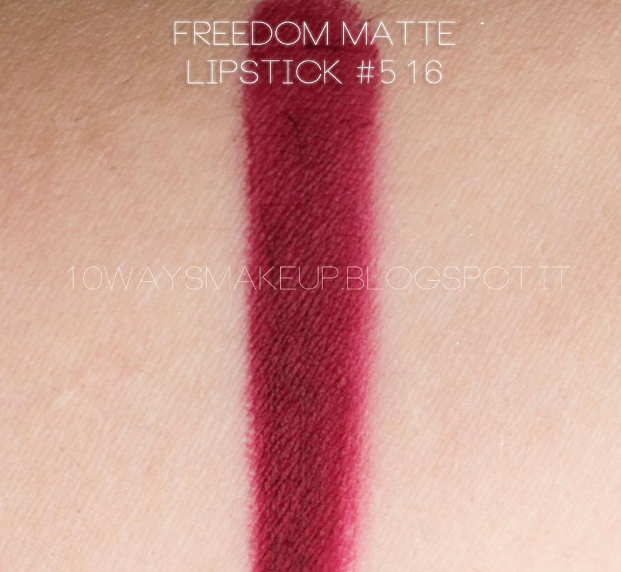 Inglot matte lipstick 516 swatch